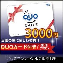 当ホテル1番人気!!QUOカード3,000円分付き