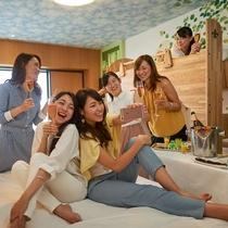 ファミリーハッピーマジックルーム 女子会イメージ
