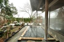 ひのき露天風呂 12月頃です。