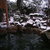 雪見露天風呂 2月頃