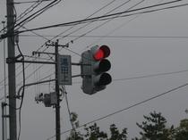 国道403号線「湯田上」信号機 ここを東に入ります。