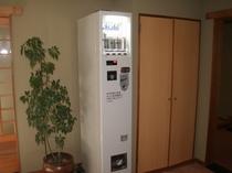 缶ビール自販機は大浴場前にあります。