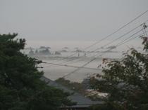 10月下旬 朝5時半頃 二階からの景色です。
