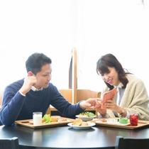 ★朝もゆっくりカップルで朝食★