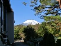 富士見の小道から富士山を望む