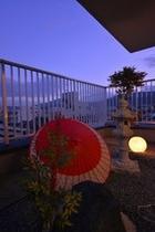 特別室「花」 テラス庭園風景