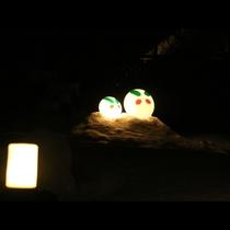 冬のライトアップ◆雪うさぎが皆様をお待ちしています♪