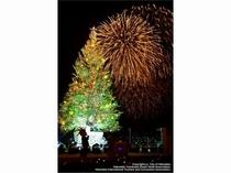 クリスマスファンタジーと花火