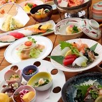◆【牛ロースステーキと寿司会席】