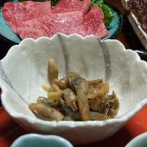 ご夕食例【マテ貝のつくだ煮】