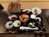 出前する和食御膳の一例