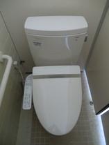 建物は古いがトイレは最新