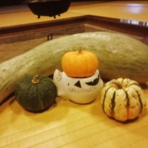 ご当地のすくなかぼちゃをふんだんに用いた料理をお出しします♪
