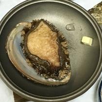 鮑の残酷焼(ご夕食一例)
