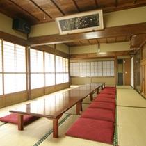 *【お食事処】本館のお食事場所はこちらです。朝夕ともにこちらでご用意致します。