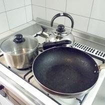 *【客室備品】調理器具も充実♪手ぶらでお越し頂けますよ!