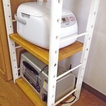 *炊飯器&トースターも完備!ほかほかご飯&こんがりトーストを作れます♪