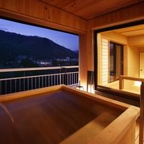 露天風呂付客室浴場
