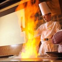 日本料理「源氏」鉄板焼きコーナー