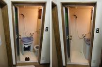 「団体室」シャワー&トイレ