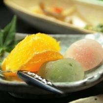 夕食_季節のデザート