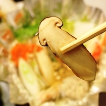 夕食_松茸恵那栗_松茸鍋