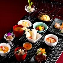 ◇前菜からデザートまでコース仕立て膳