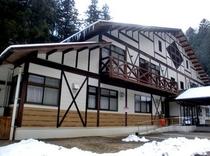 ハウス冬の全景