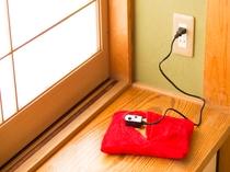 充電式湯たんぽ各お部屋にご用意しております。ご自由にお使い下さい
