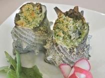 《ある日のお料理》姫サザエのブルゴーニュ風オーブン焼き