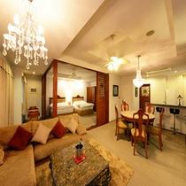 【スイート】83平米の広いお部屋はちょっと贅沢な休日にぴったり♪記念日などのお祝いにもおススメです。