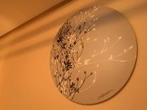 【和室】マリンハーブ時代から引き続き和室を飾る、モダンなファブリックパネル♪