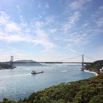関門海峡を一望できる立地だからこそこの贅沢な景色をひとり占め!
