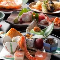 【冬の会席一例】厳選された食材で一流の本格会席をお召し上がりください。