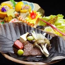 【夕食一例】本格料亭の味☆地元伝統食材をふんだんに使用した献立の数々。