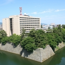 Jr.スイートより見下ろす福井城址