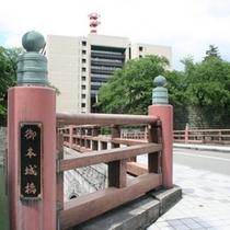 福井県庁に続く御本城橋(実は橋の名前は福井県民でも知らない人が殆どです)