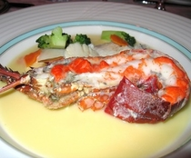 伊勢海老の料理の一例