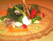 オードブル 黒鯛のサラダ仕立て
