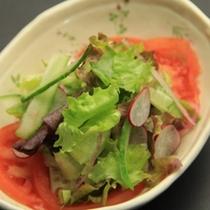 夕食_自家製サラダ