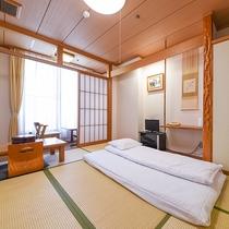 *【和室シングル一例】お1人様用のシングルルーム。ベッドよりも布団で寛ぎたいという方におすすめです。