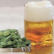 【ほろ酔いセット】生ビール2杯、枝豆、フライドポテトが付いたお得なセット。仕事終わり・お風呂上りに★