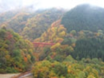 (秋)松川渓谷にかかる橋