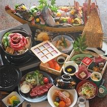 *【夕食一例】~福コース~計15品で大満足の特別料理コース。