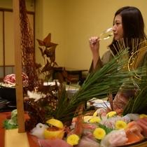 【お食事風景】四季の旬の味にこだわったお料理をご堪能ください!