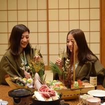 【女子会】温泉宿でしっぽり女子会はいかがですか?