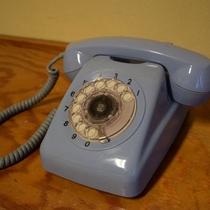 館内にはレトロな電話が!懐かしさに心躍ります♪