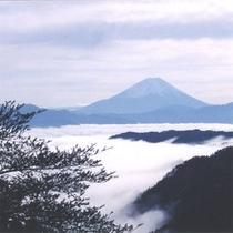 冬の富士山の姿