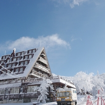 *【外観・冬】当館を拠点に冬レジャーを満喫!