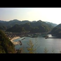 ★高台からの諸寄海水浴場★